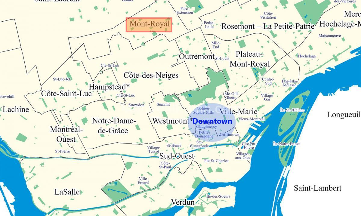 mont royal map