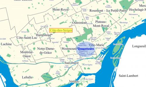 cote-des-neiges-map